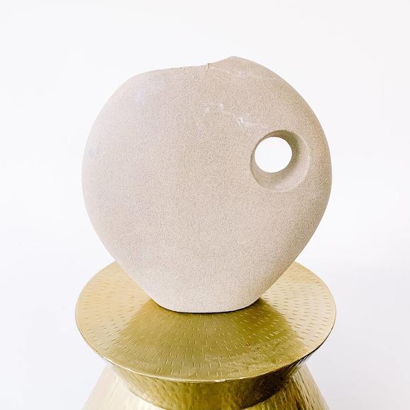 Boho Southwest Grey Pottery Vase